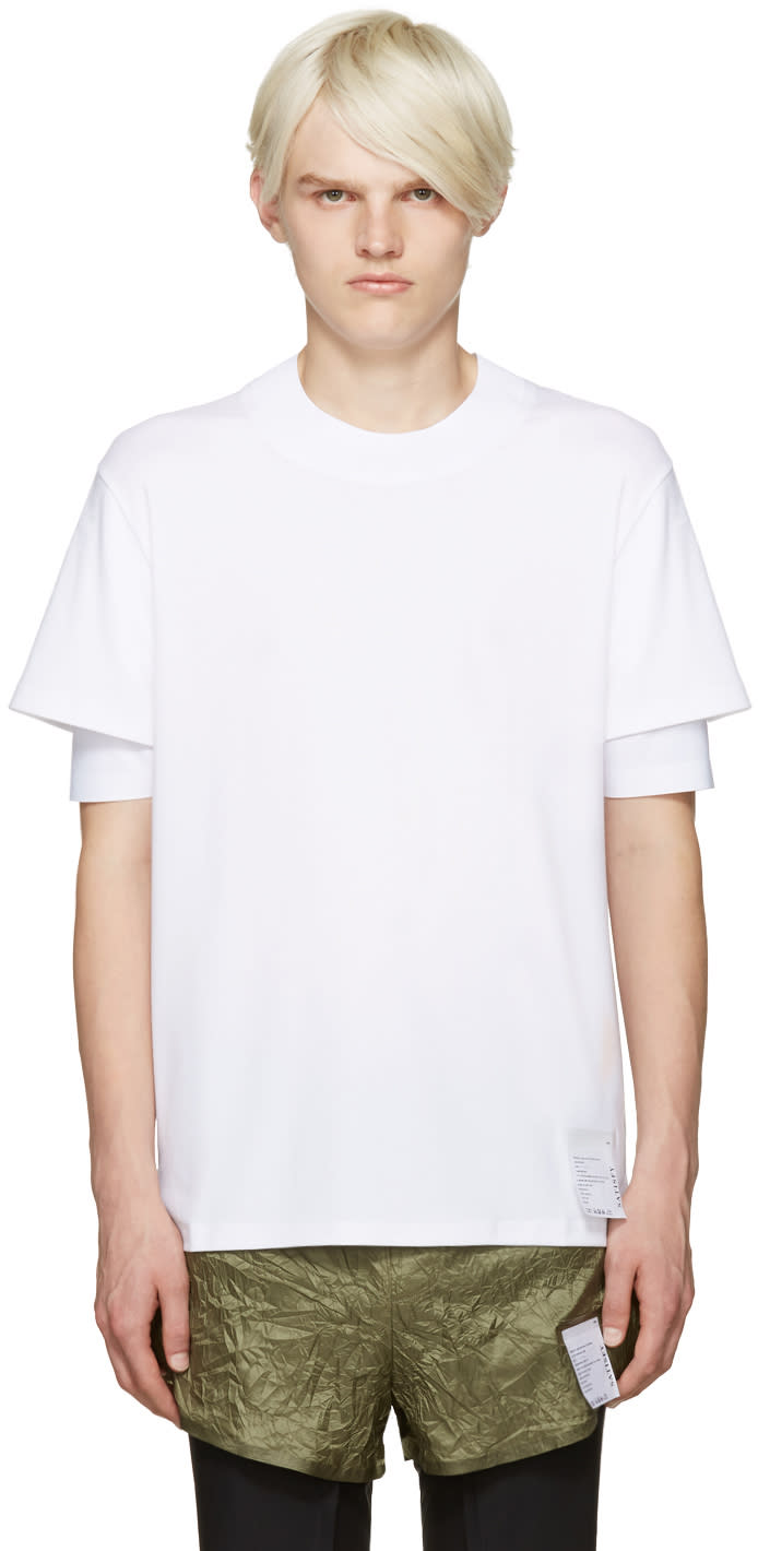 Satisfy White Long Distance T-shirt