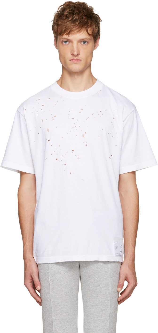Satisfy White Moth Eaten T-shirt