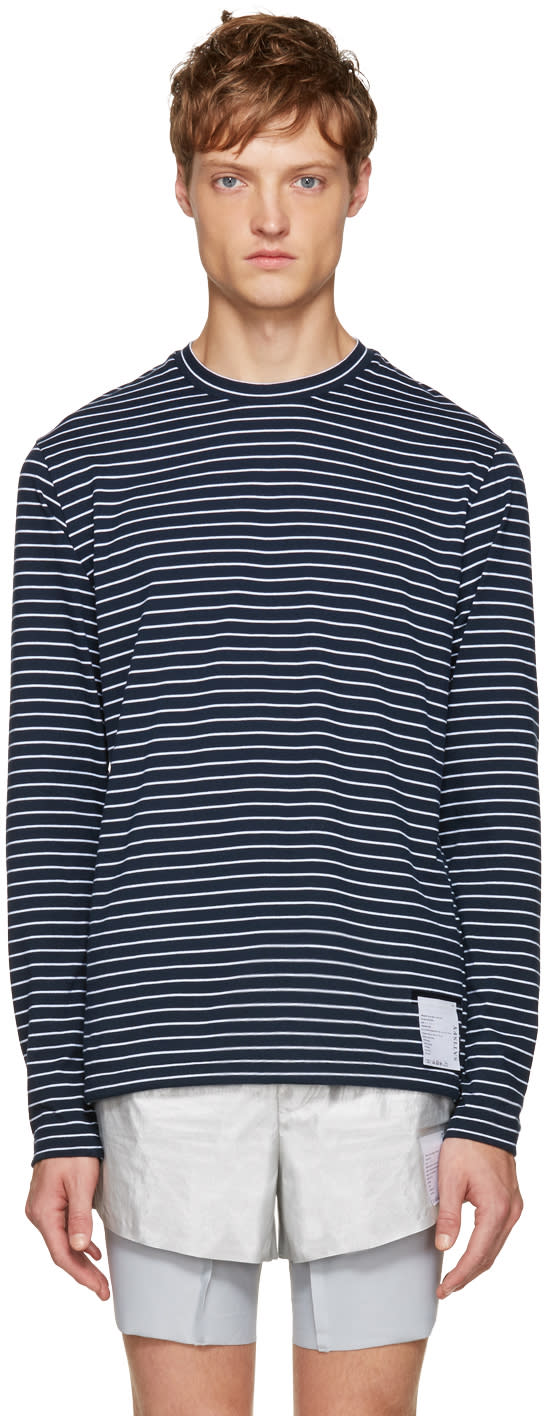 Satisfy Navy and White Packable T-shirt