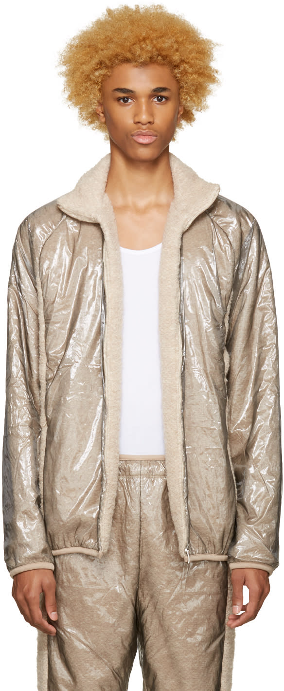 Cottweiler Beige Layered Glaze Track Jacket