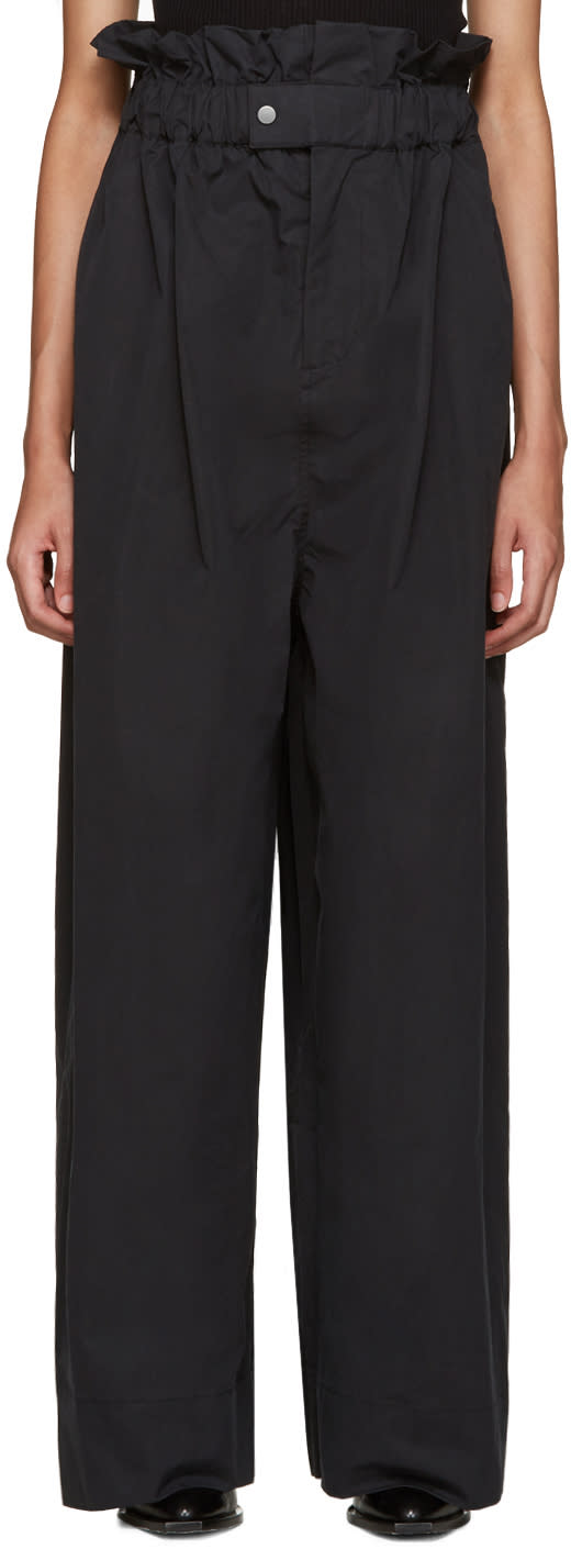 Craig Green Black Wide-leg Pleated Trousers