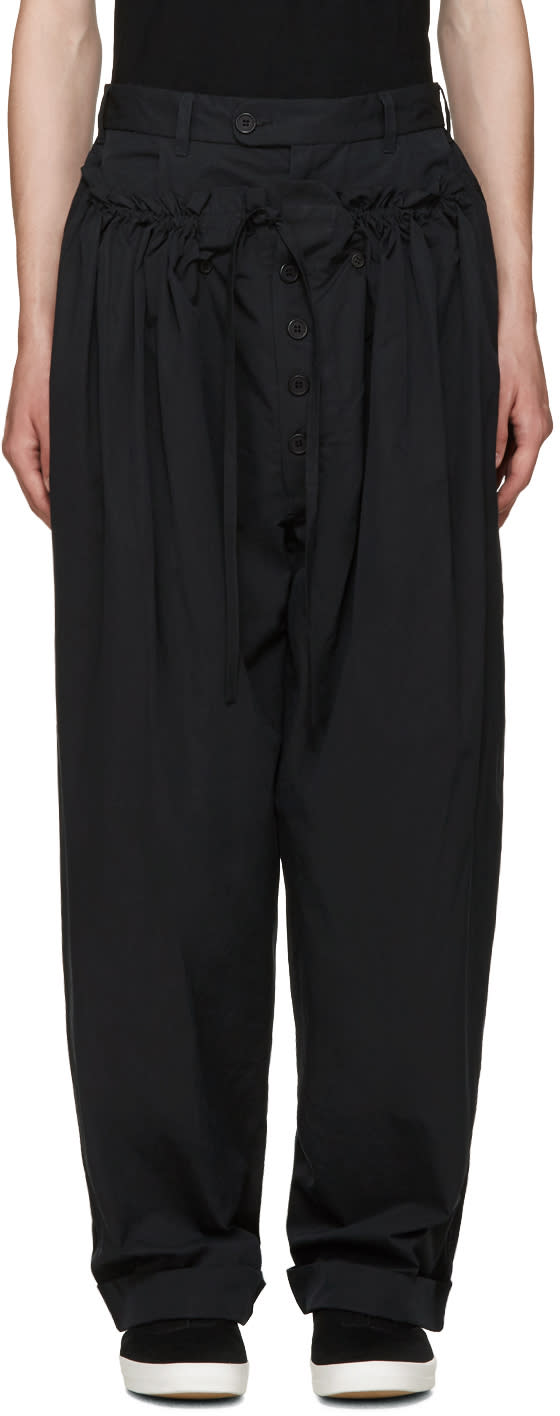 Craig Green Black Panelled Pyjama Trousers