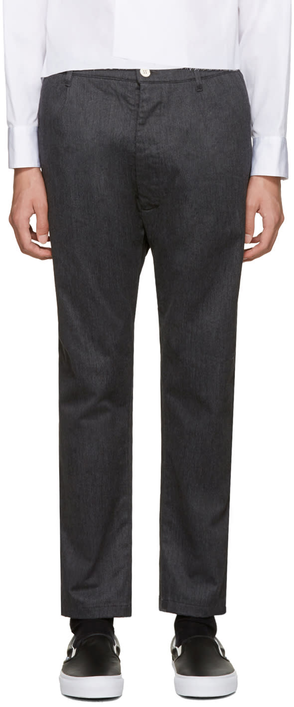 Sunnei Grey Flannel Classic Trousers