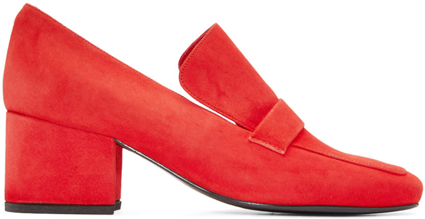 Dorateymur Red Suede Turbojet Heels
