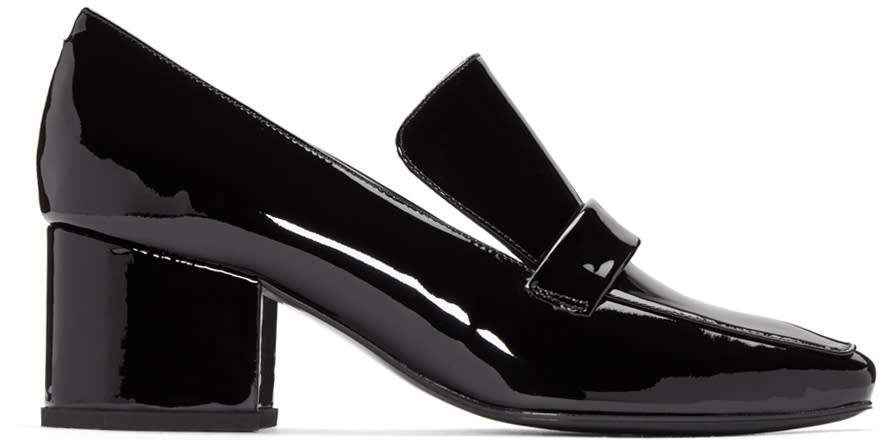 Dorateymur Black Patent Leather Turbojet Heels