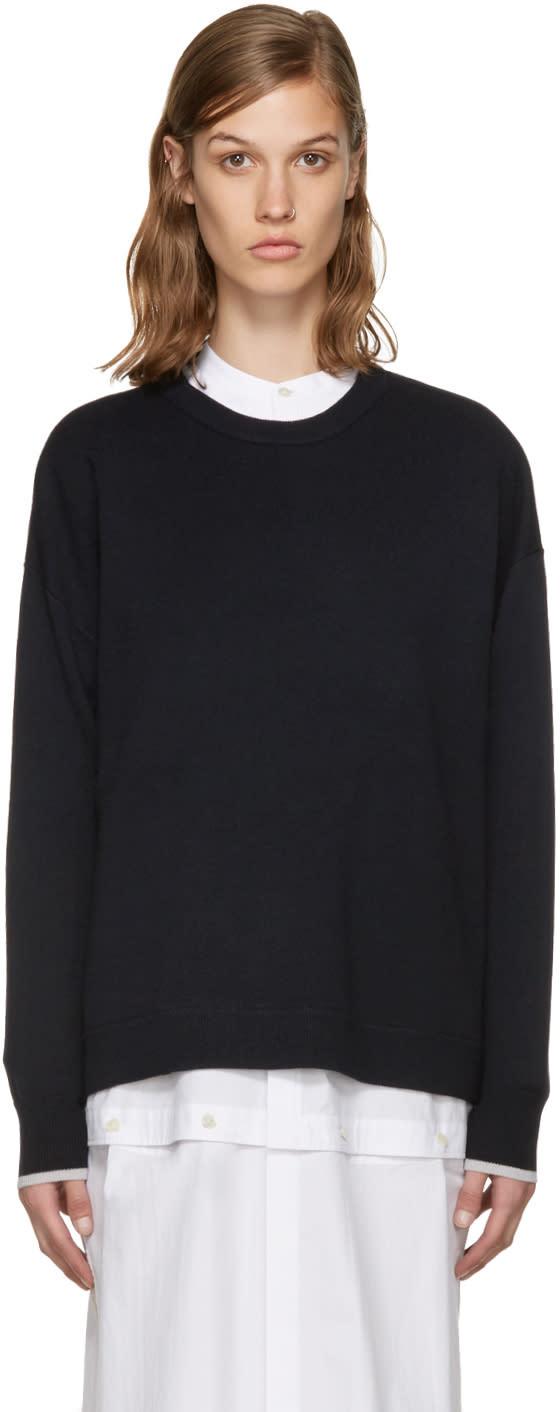 Enfold Navy Wool Sweater