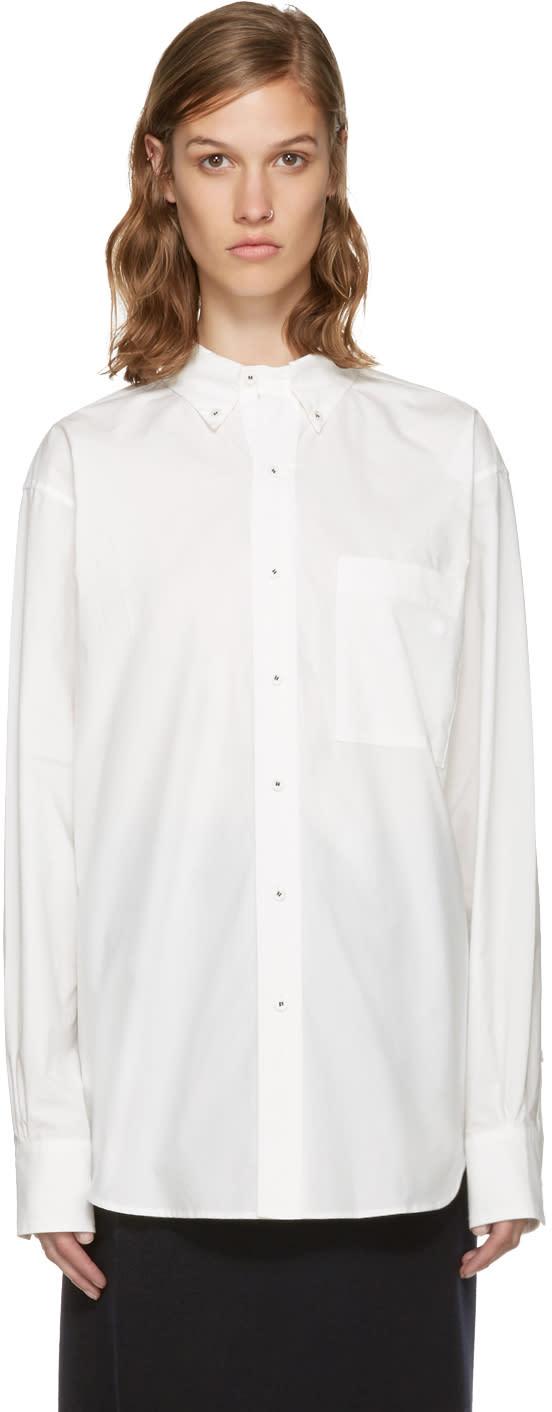 Enfold White Cotton Shirt