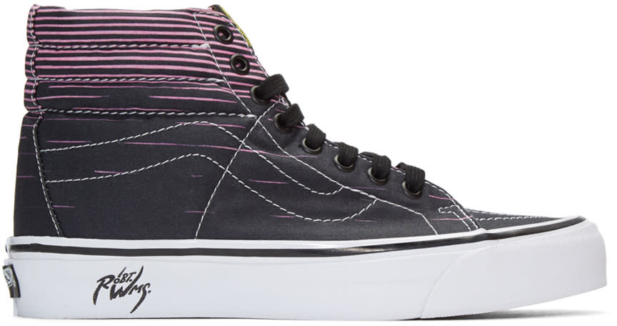 Vans Black Sk8-hi 38 Decon Lx Flaming Cobras Robert Wiliams Edition Sneakers