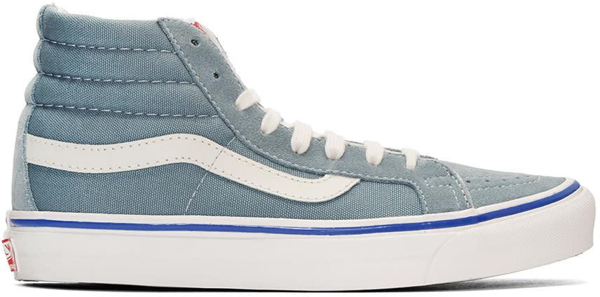 Vans Blue Suede Og Sk8-hi Lx Sneakers