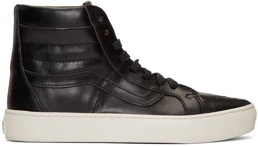 Image of Vans Black Horween Edition Sk8-hi Cup Lx Sneakers