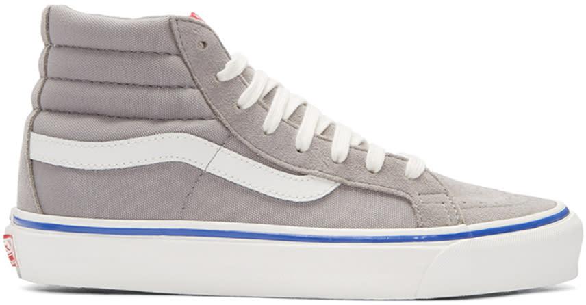 Vans Grey Og Sk8-hi Lx Sneakers