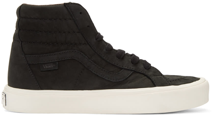 Vans Black Nubuck Sk8-hi Reissue Lite Lx Sneakers