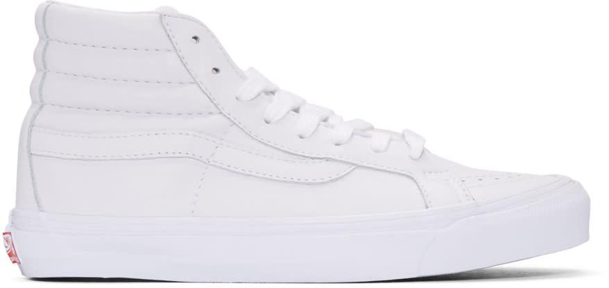 Vans White Og Sk8-hi Lx Sneakers