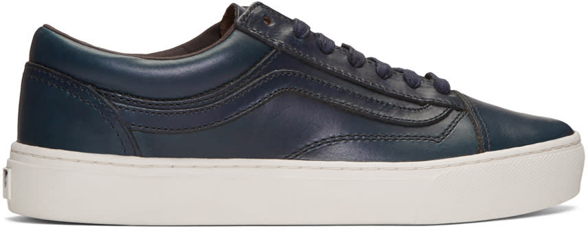 Vans Navy Horween Edition Old Skool Cup Lx Sneakers