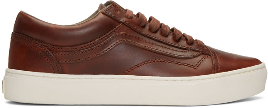 Vans Brown Horween Edition Old Skool Cup Lx Sneakers