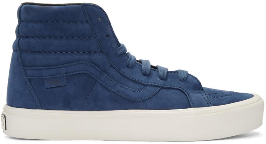 Vans Blue Nubuck Sk8-hi Reissue Lite Lx Sneakers