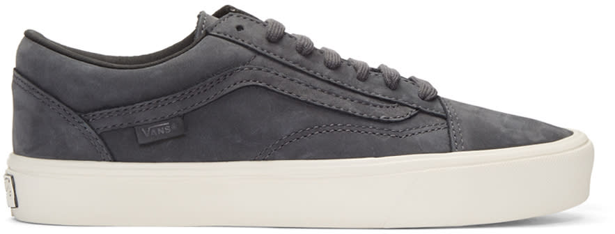 Vans Grey Nubuck Old Skool Lite Lx Sneakers
