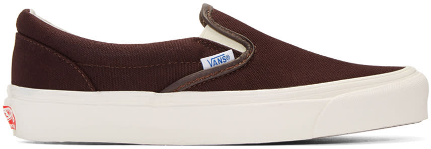 Vans Brown Og Classic Slip-on Sneakers