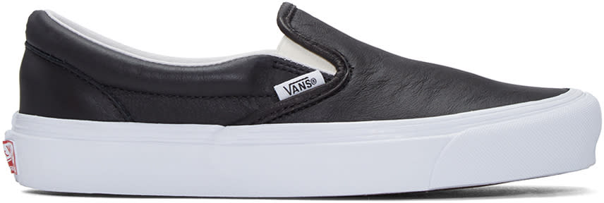 Vans Black Og Classic Slip-on Sneakers