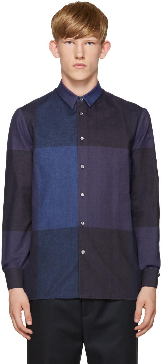 Stephan Schneider Blue Check Flannel Shirt