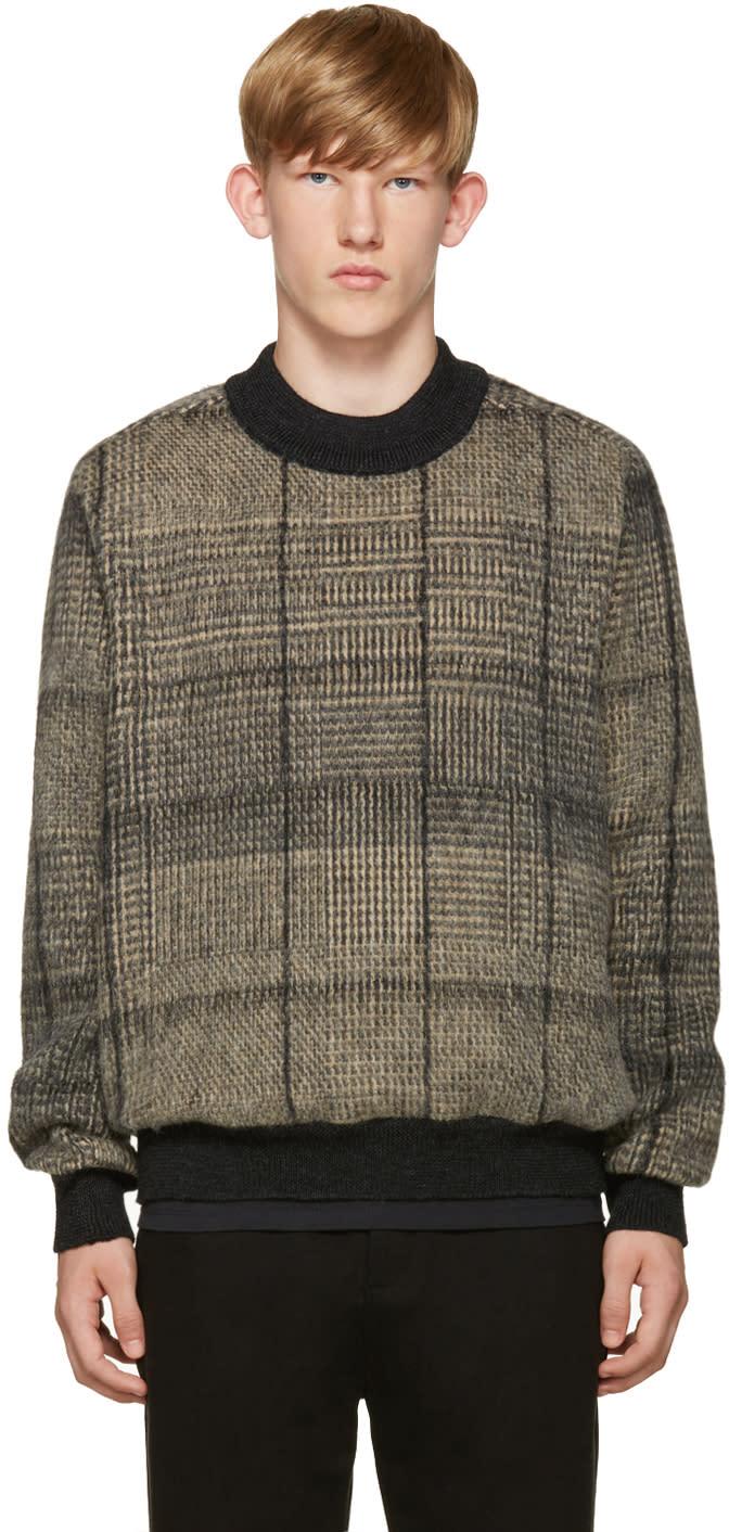 Stephan Schneider Black and Beige Check Sweater