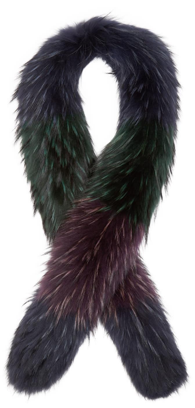 Emilio Pucci Multicolor Fur Scarf