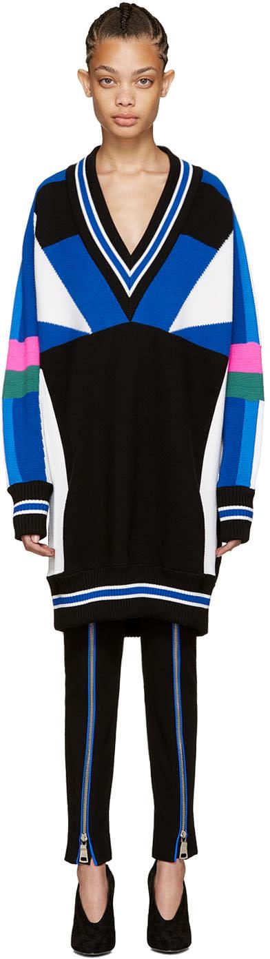 Emilio Pucci Multicolor Colorblocked Sweater Dress
