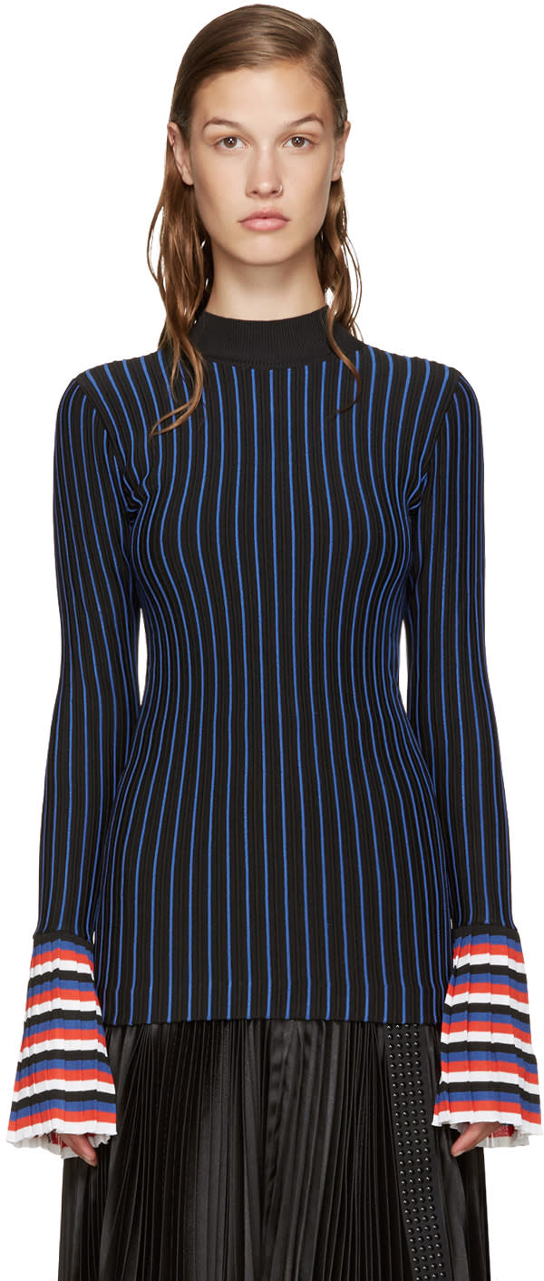 Emilio Pucci Navy and Red Striped Top