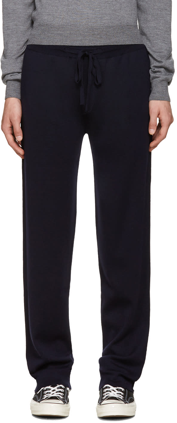 Editions MR Navy Merino Knit Lounge Pants