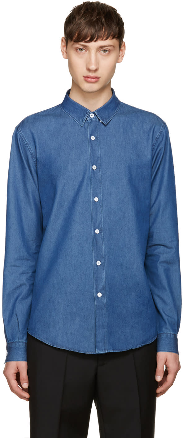 Editions MR Blue Chambray Shirt