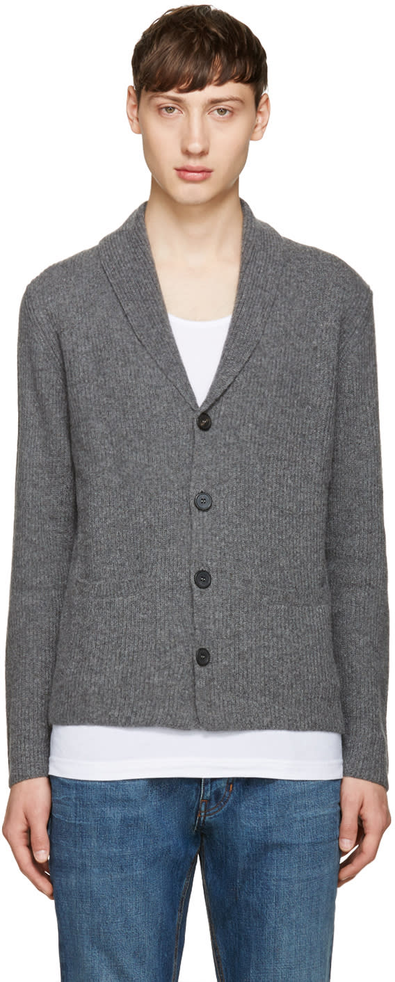 Editions MR Grey Shawl Collar Cardigan