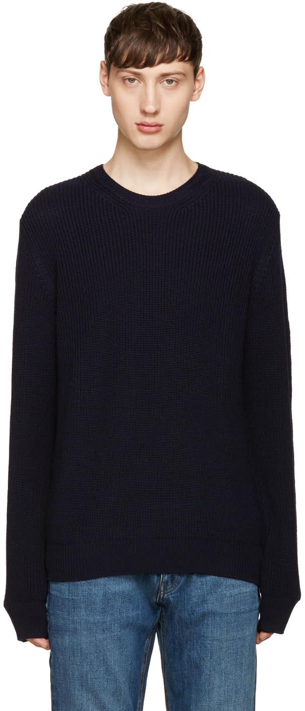 Editions MR Navy Merino Sweater