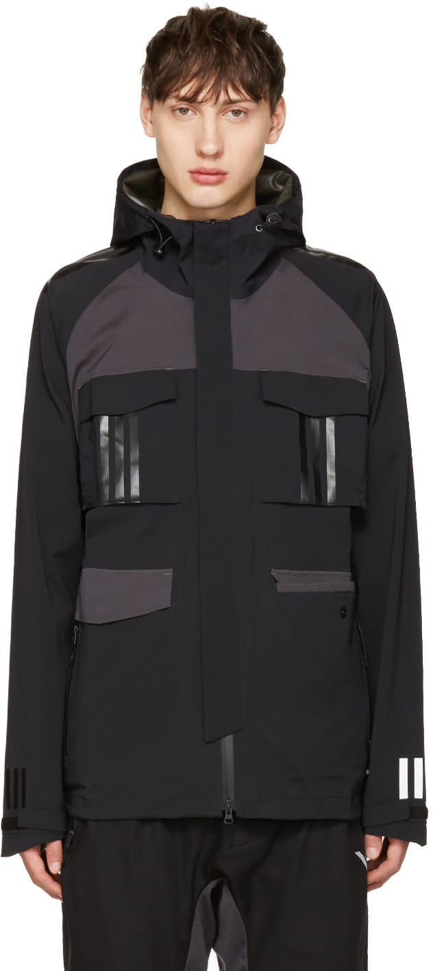 Adidas X White Mountaineering Black Shell Hooded Jacket