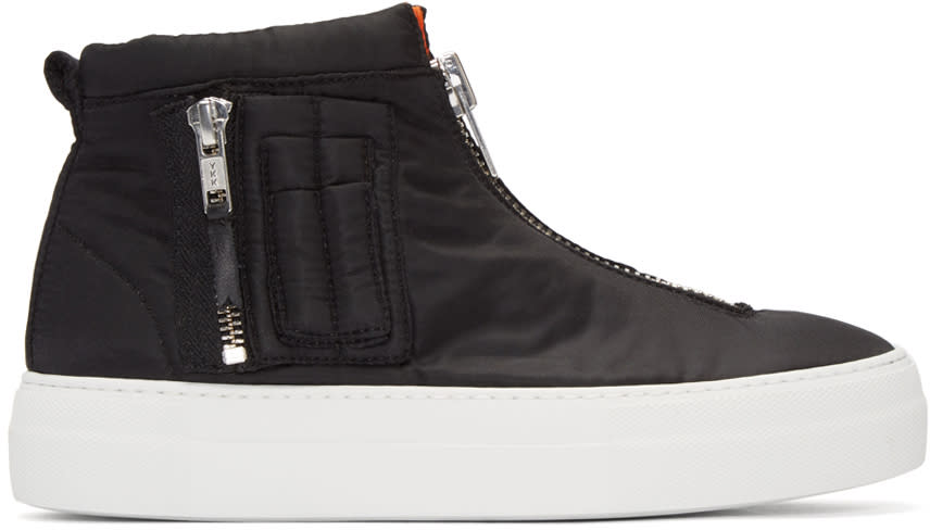 Joshua Sanders Black Bomber High-top Sneakers
