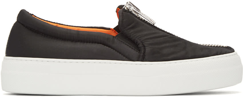 Joshua Sanders Black Bomber Slip-on Sneakers