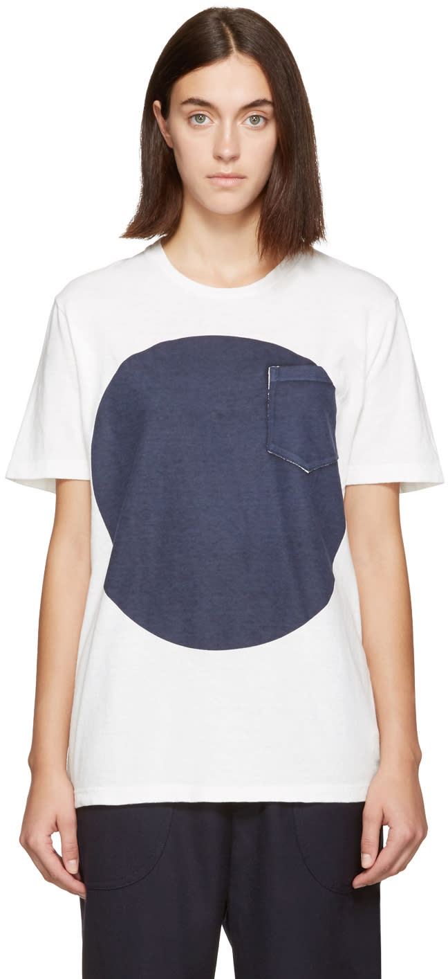 Blue Blue Japan White and Indigo Flag T-shirt