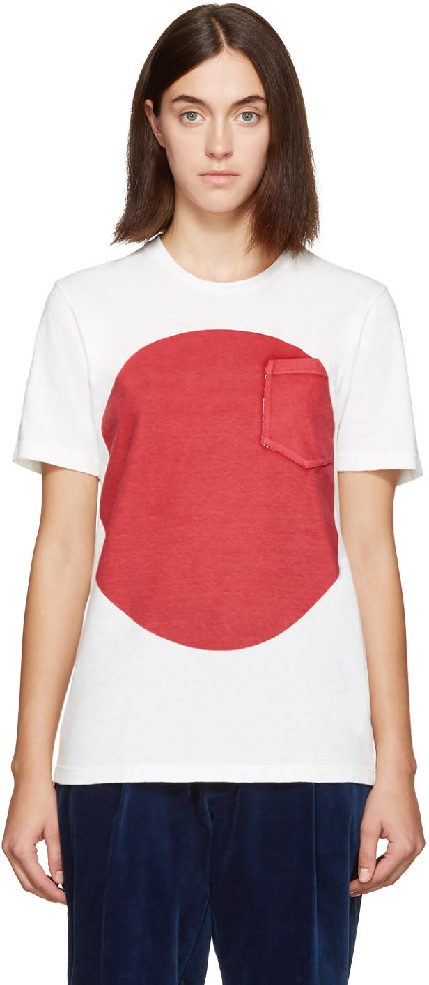 Blue Blue Japan White and Red Flag T-shirt