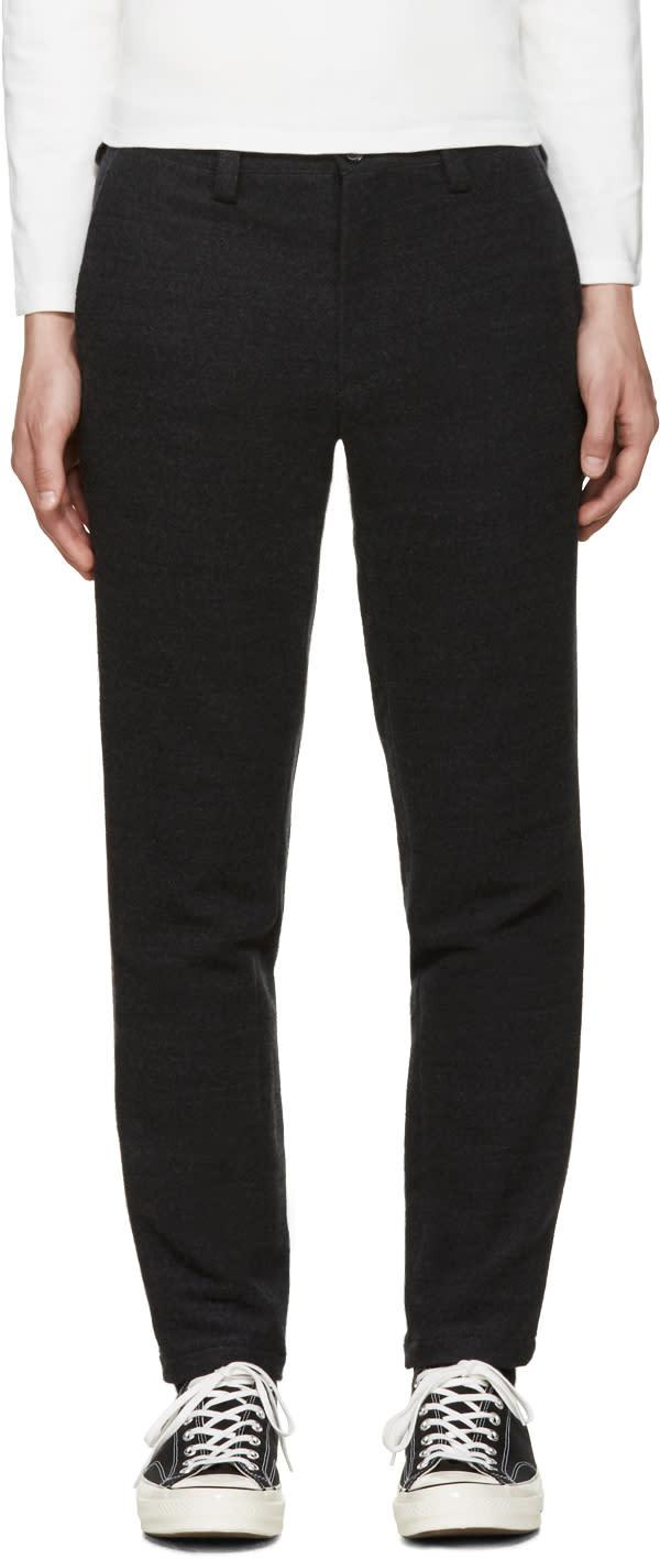 Blue Blue Japan Grey Wool Trousers
