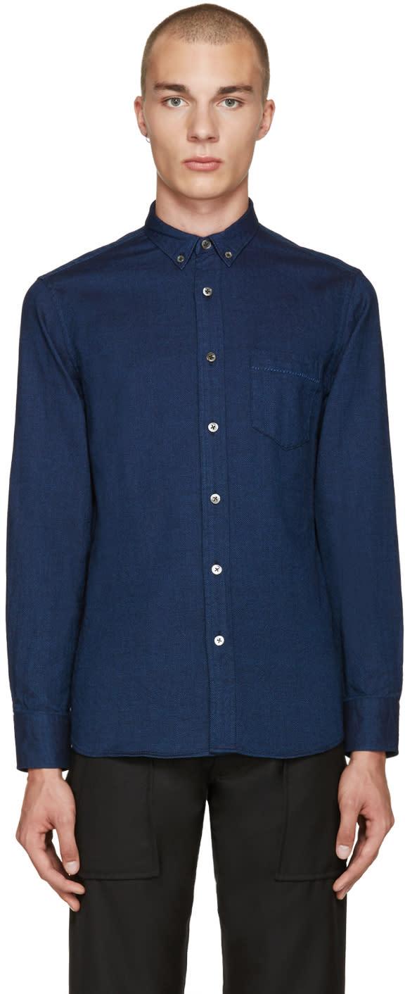Blue Blue Japan Indigo Dobby Shirt