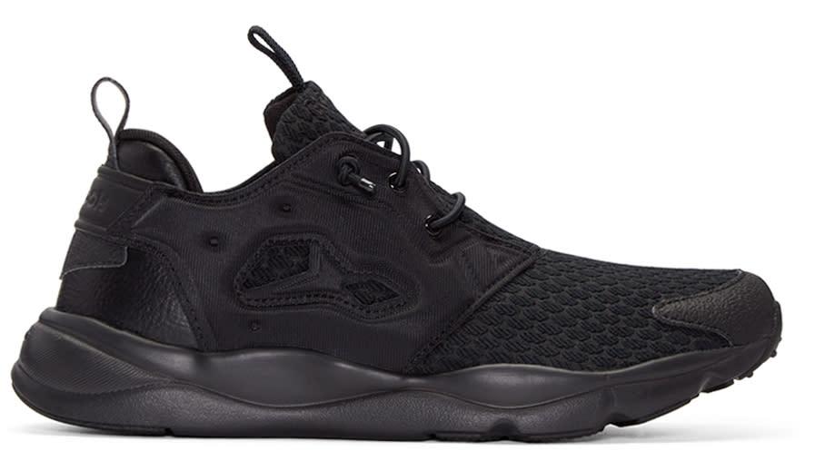 Reebok Classics Black Furylite Clean Sneakers d41e8bf09