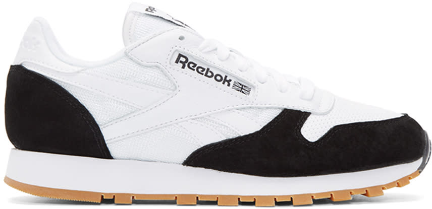 Reebok Classics White and Black Cl Sneakers
