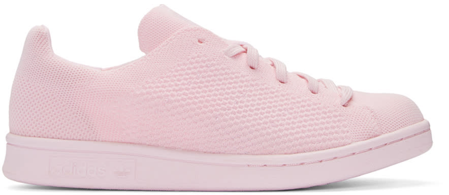 Adidas Originals Pink Primeknit Stan Smith Sneakers