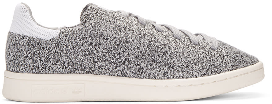 Adidas Originals Grey Primeknit Stan Smith Sneakers