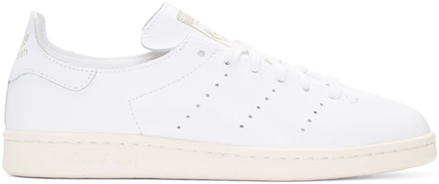 Adidas Originals White Stan Smith Lea Sock Sneakers