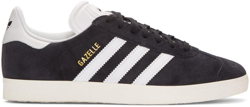 Image of Adidas Originals Black Og Vintage Gazelle Sneakers