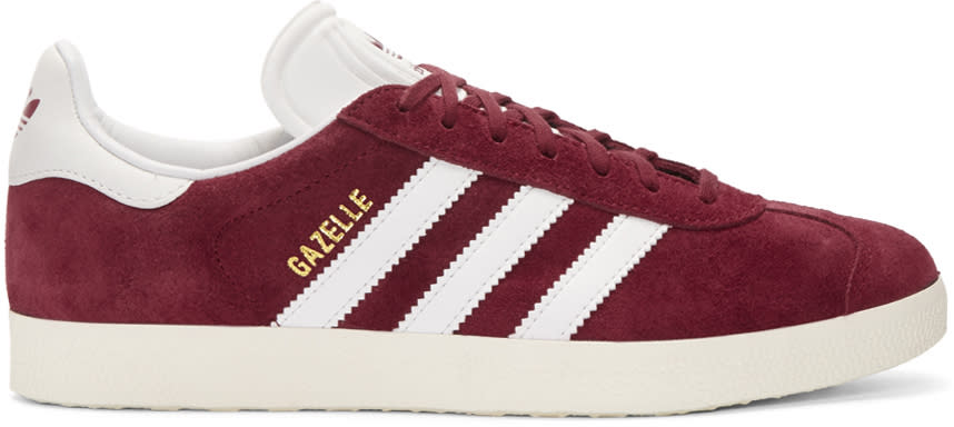 Adidas Originals Burgundy Og Vintage Gazelle Sneakers