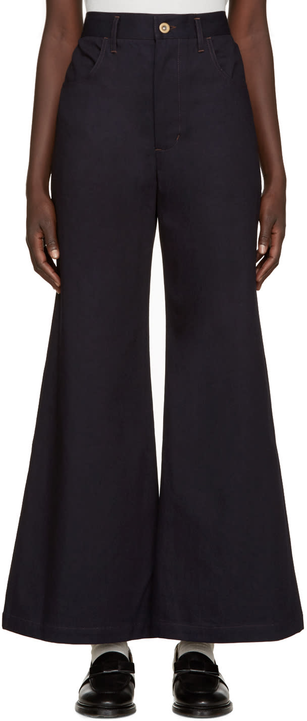 Image of Wales Bonner Blue Wide-leg Isaac Jeans