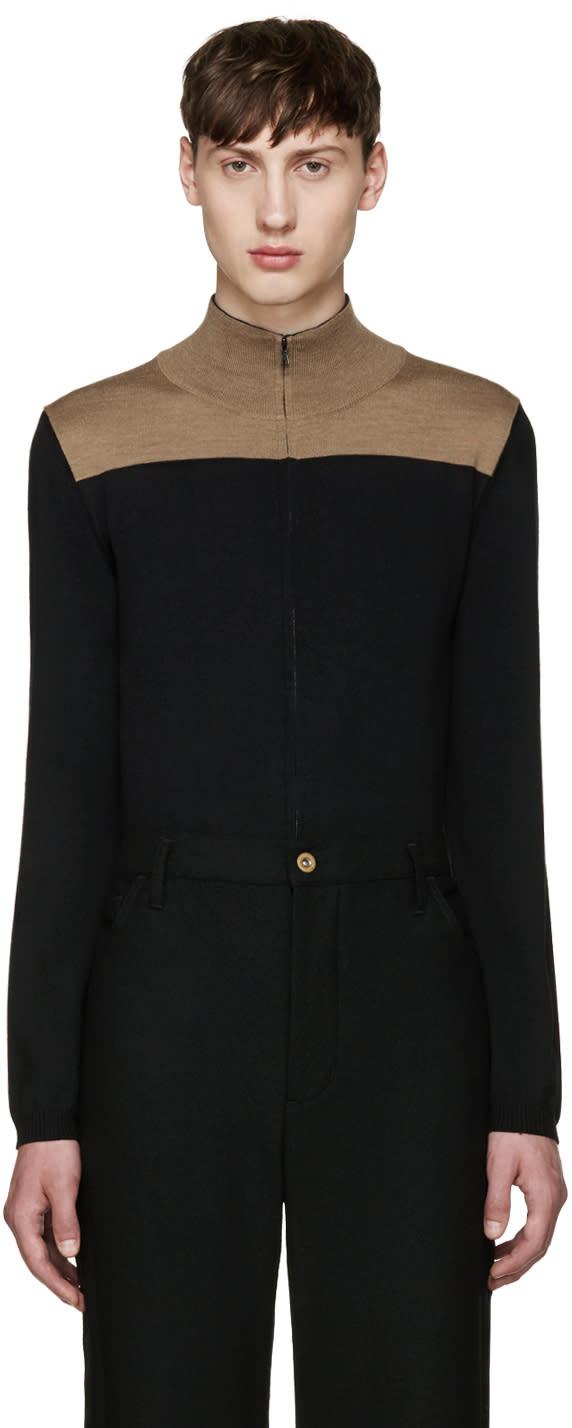 Wales Bonner Black Emory Zip-up Sweater