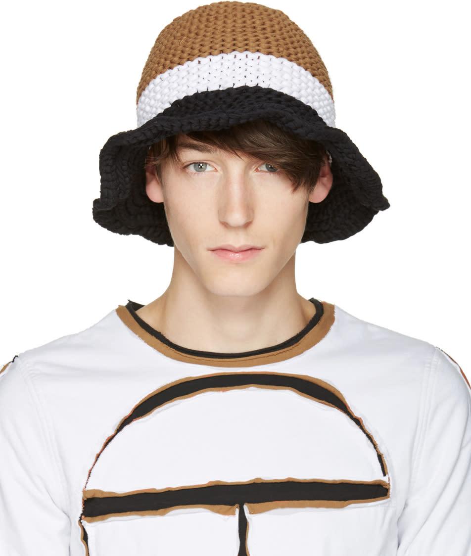 8541a862809 Telfar Tricolor Knit Bucket Hat