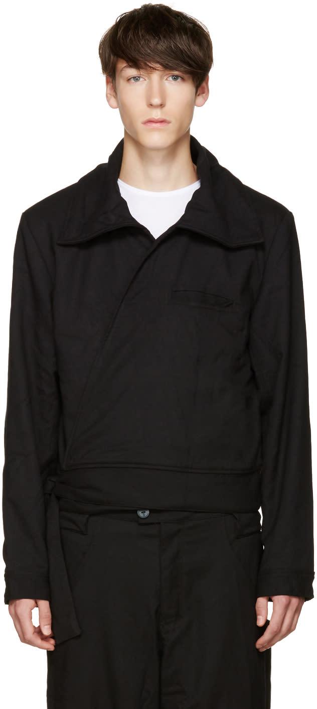 Telfar Black Wrap Jacket